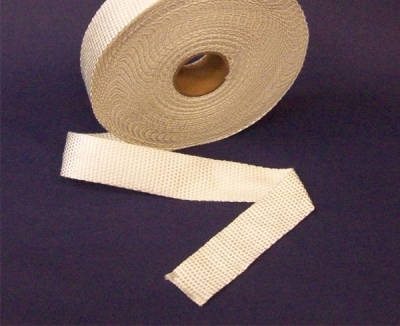 50 mm breit x 3 mm stark - Hitzeschutzband - Silikatfaser (Kleinstmengen)