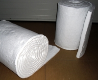 Heat protection mattress silica fibre wool TECHNOwool 96 approx. 13 mm thick, dimensions approx. 14.640 mm x 610 mm